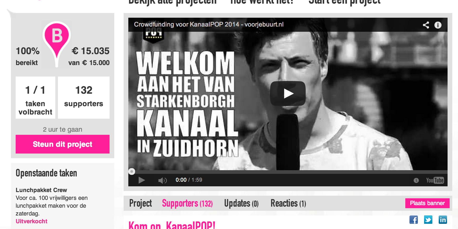 kanaalpop crowdfunding