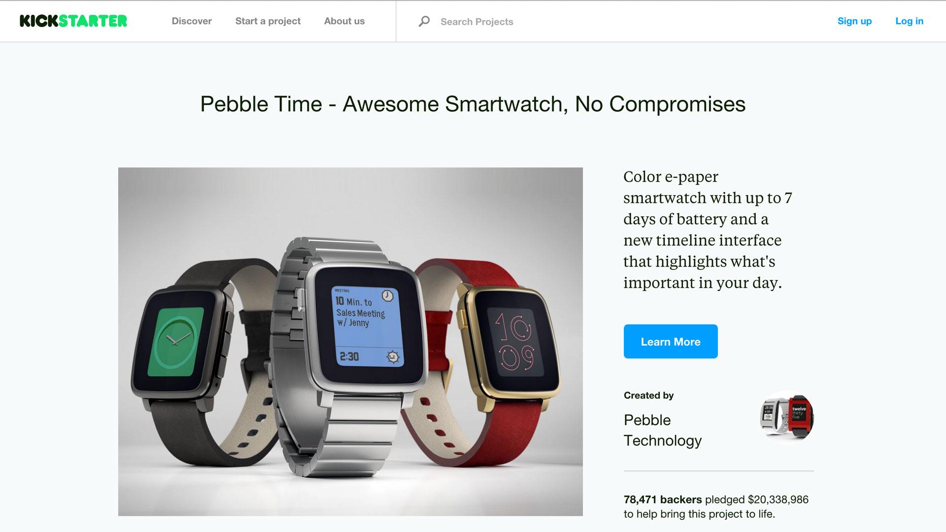 Pebble-Time-Kickstarter-crowdfunding