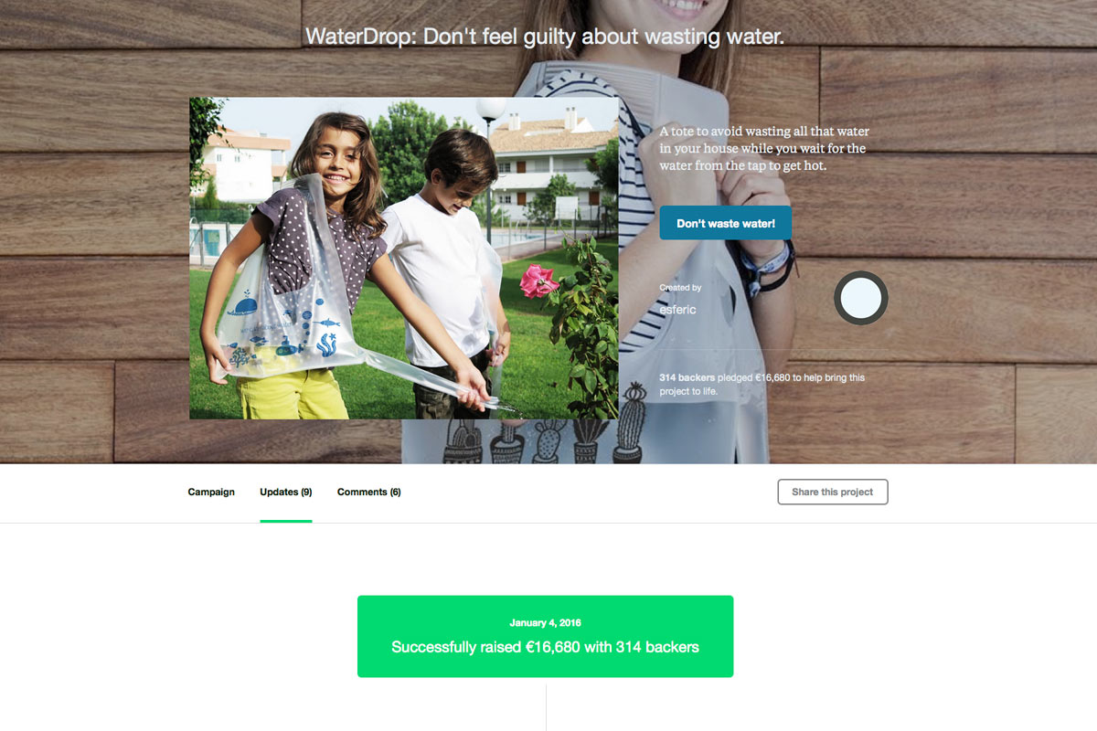 Kickstarter-campagne-WaterDrop